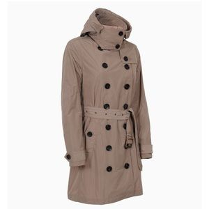 NWT Burberry Hooded beige Double-breasted Trench